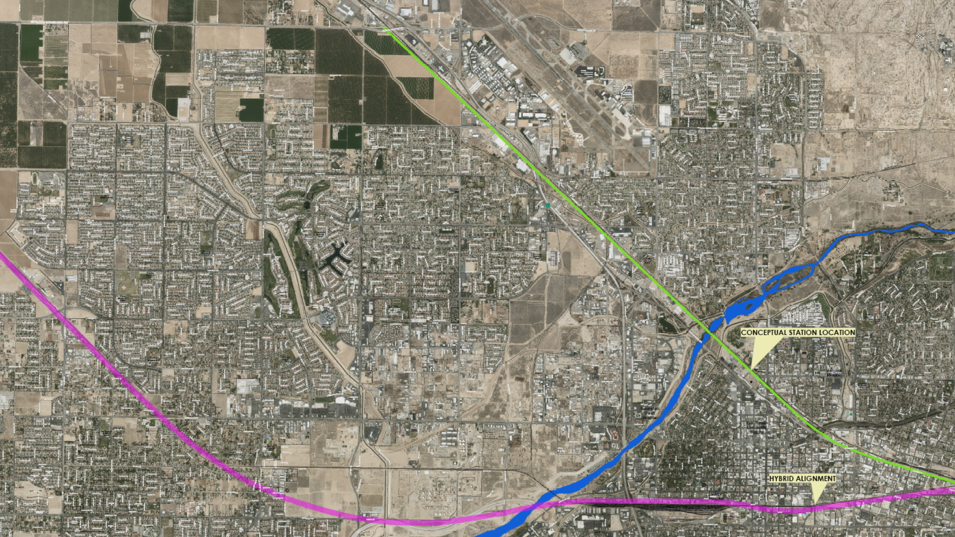 Bakersfield drops high speed rail lawsuit california political the change in the route in bakersfield from the purple line to the green line 1betcityfo Image collections